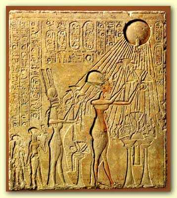 Worship of Aten by Amenhotep IV